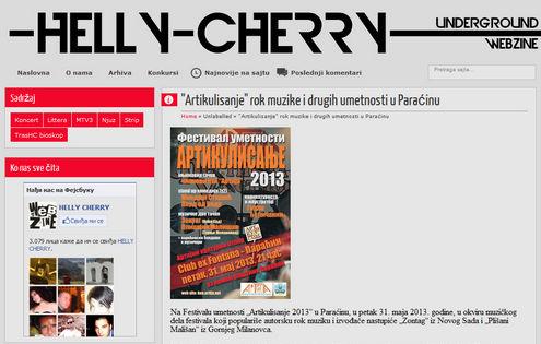 """Helly Cherry Webzine - најава Фестивала уметности """"Артикулисање 2013"""""""