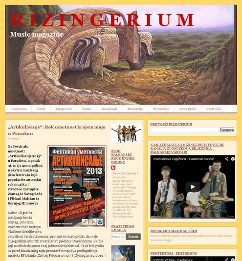 """Rizingerium Music Magazine - најава Фестивала уметности """"Артикулисање 2013"""""""
