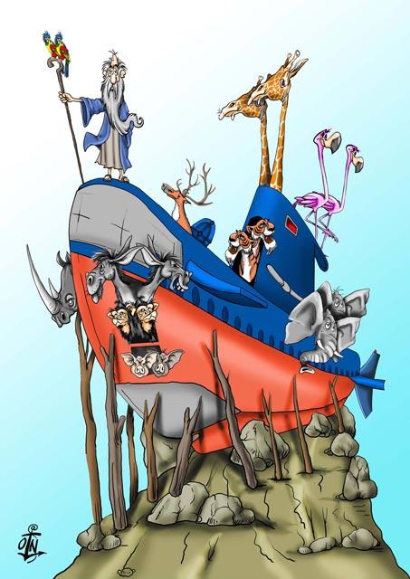 """Карикатура аутора Николе Оташа, тема конкурса """"Живојин Павловић Жикишон 2015"""""""