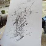 Обележавање Светског дана књиге и ауторских права 2016: Цртеж Андрије Дреноваковића